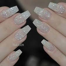 easy nail art glitter acrylic nails awesome acrylic nail designs glitter with this easy