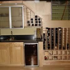 Wine Glass Storage Cabinet by Creative Under Stairs Wine Storage Idea Feat Cool Tiny Kitchen