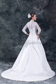 wedding dress jacket allens bridal satin and lace sweetheart neckline chapel