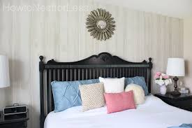 how to install wood paneling from our master bedroom makeover