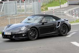 porsche turbo convertible spied porsche continues work on all new 911 turbo s convertible