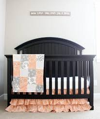 Gray Baby Crib Bedding Custom Crib Bedding And Grey Baby Bedding For Our