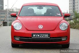 volkswagen beetle red vw beetle 1 2 tsi gets new trim levels u2013 from rm133k