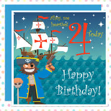ahoy me hearties 4th birthday card for all pirate boys