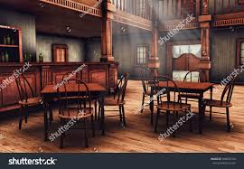 Wooden Interior by Wooden Interior Wild West Saloon 3d Stock Illustration 508553134