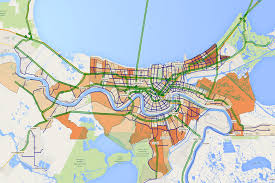 New Orleans Downtown Map by Faster Evacuation Studying New Orleans To Improve Disaster