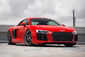 audi r8 ads red audi r8 v10 adv10 track spec cs series wheels adv 1 wheels