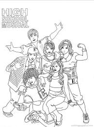 School Musical Coloring Pages Coloring Pages For High