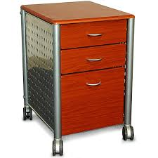 Oak Filing Cabinet 3 Drawer Modern 3 Drawer Filing Cabinet With Casters In Cherry Wood Finish