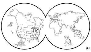 free printable world map coloring pages for kids inside of the