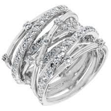 platinum sterling rings images Crislu entwined cz ring in sterling silver with platinum finish jpg