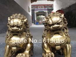foo lion statue china regius brass door talisman fu foo dog evil guardian