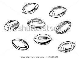 rugby american football balls set sports stock vector 115338676