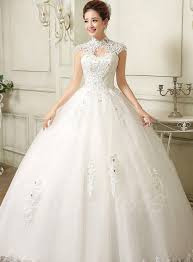wedding dress high neck best selling gown wedding dresses tbdress