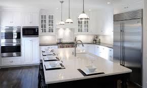 Transitional Kitchen Design Ideas by Awesome Transitional Kitchen Ideas With White Hanging Lamps And