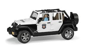 dark gray jeep wrangler 2 door bruder jeep wrangler unlimited rubicon police vehicle amazon co