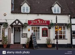 the bear public house front view bridgnorth shropshire uk stock