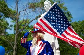 Christopher Columbus Flag Family Fun At The 4th Of July Parade And Celebration At