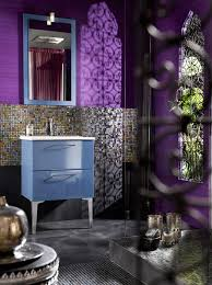 Lavender Bathroom Ideas by Purple Bathroom Ideas Grey Glass Tiles Mosaic Wall Design Brown