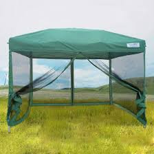 Outdoor Mesh Screen by Quictent 8x8 Green Ez Pop Up Gazebo Party Tent Canopy Mesh Screen
