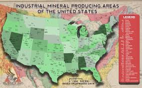 The Map Of United States by The United States Of Industrial Minerals Map Burgex Inc