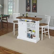 White Pub Table Set - home styles americana 3 piece white and oak bar table set 5002 998