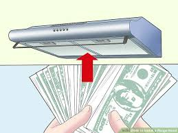 how to install a range hood under cabinet how to install a range hood 14 steps with pictures wikihow