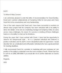 best ideas of recommendation letter for outstanding employee with