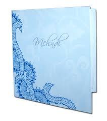 mehndi invitation cards mnd01b cyan blue henna pattern mehndi invitation card 0 15