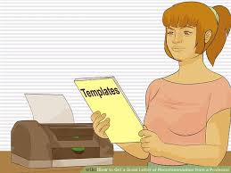 how to get a great letter of recommendation from a professor