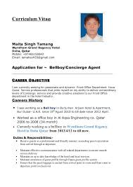 Currently Working Resume Sample by Enchanting Bellboy Resume 72 In Resume Examples With Bellboy
