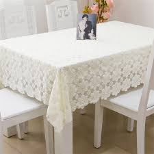 cheap wholesale table linens modern hollow out thicker flower lace tablecloths polyester table