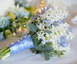 wedding flowers blue blue and white wedding flowers