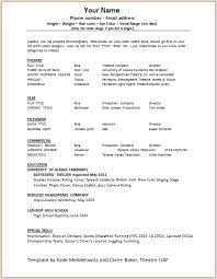 musical theatre resume examples listening and reacting acting