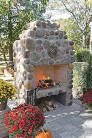 fireplace ultra modern river rock fireplace pictures for