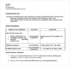 Accounting Resume Experience Sample Accountant Resume 12 Download Free Documents In Pdf Word