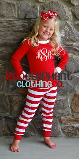 monogrammed christmas kids christmas pajamas family christmas pajamas personalized