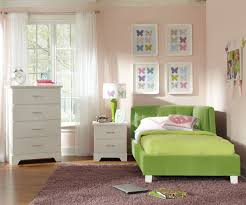 bedroom teenage girls bedroom with small green corner bed with