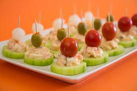 canape de canapés de pepino com camarão saborintenso com