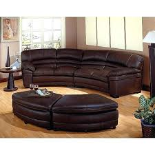 ottoman messina brown bonded leather sectional with ottoman