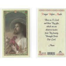 catholic wedding blessing prayer before meals holy card the catholic company