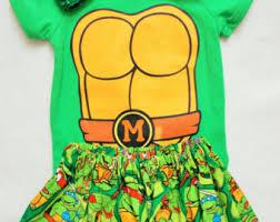 Ninja Turtle Halloween Costume Toddler Ninja Turtle Dress Etsy