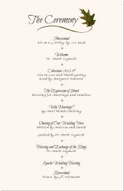 wedding reception programs wedding reception program sle service kid s wedding ideas