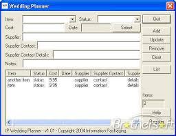 wedding planner software free ip wedding planner ip wedding planner 1 01