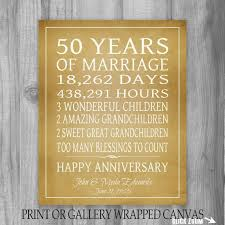 50th anniversary gift ideas for parents anniversary personalized glass clock 50 th anniversary gift