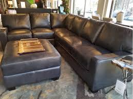 Albany Sectional Sofa Omnia Furniture Albany 2 Sectional Grey Leather
