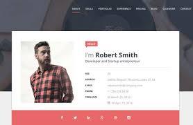 resume portfolio template 50 best vcard resume themes 2018 freshdesignweb