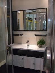 Stainless Steel Bathroom Vanity Cabinet 2018 Shipping New Modern 304 Stainless Steel Bathroom Vanity