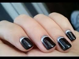 once in a blue moon half moon nail manicure youtube