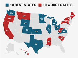 States With No Income Tax Map by Best Worst States To Make A Living In 2017 Business Insider